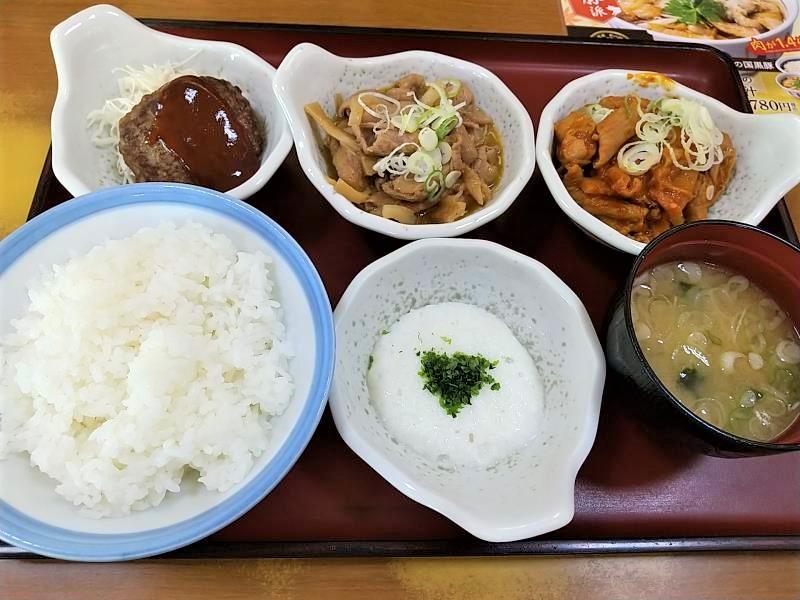 山田うどん食堂の「パンチ食べくらべ定食」