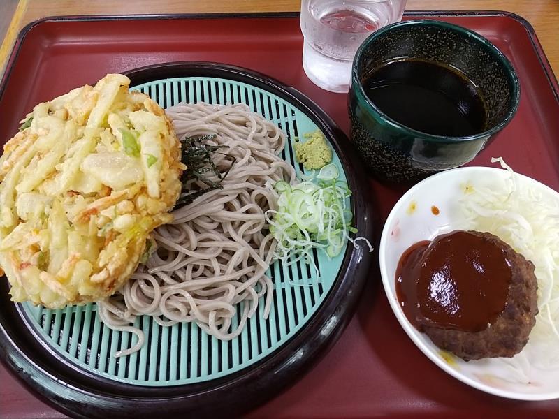 山田うどん食堂の「天ざるそば」