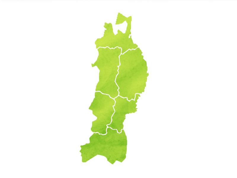 東北地方の図