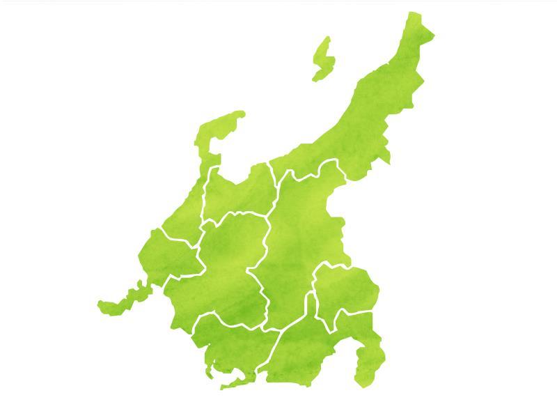 中部地方の図
