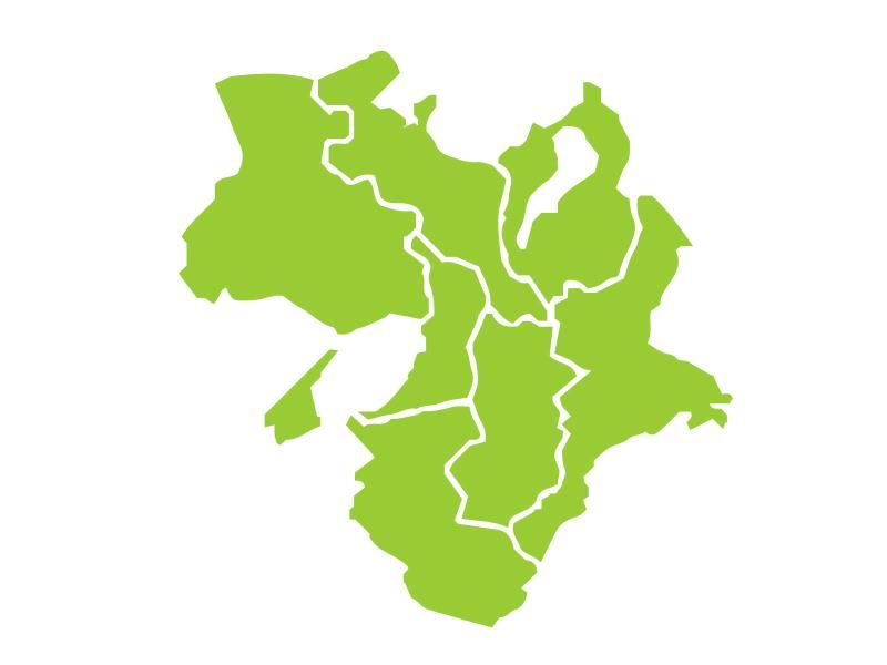 近畿(関西)地方の図