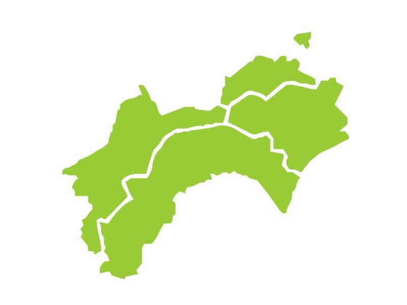 四国地方の図