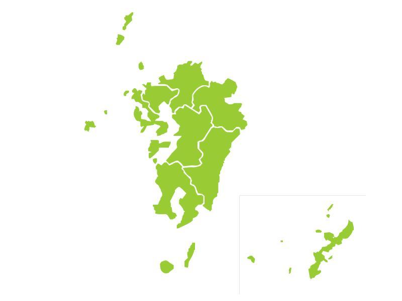 九州地方の図