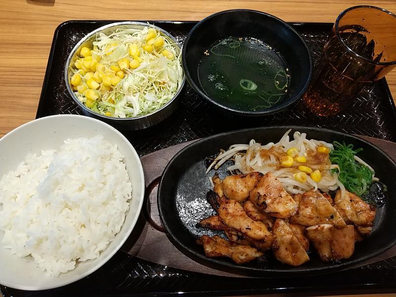 韓丼の味噌だれ鶏もも定食