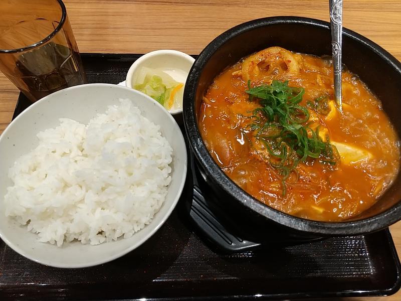 韓丼の名古屋味噌スン豆腐定食