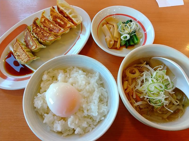 幸楽苑の朝定食A