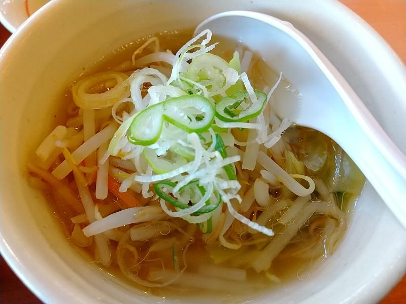 幸楽苑の野菜スープ