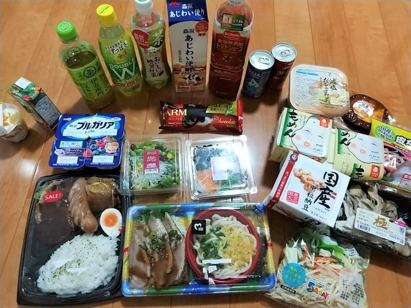 購入した大量の食材