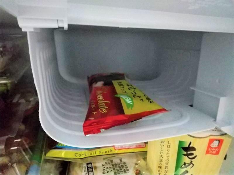 収納したパルムのアイスクリーム