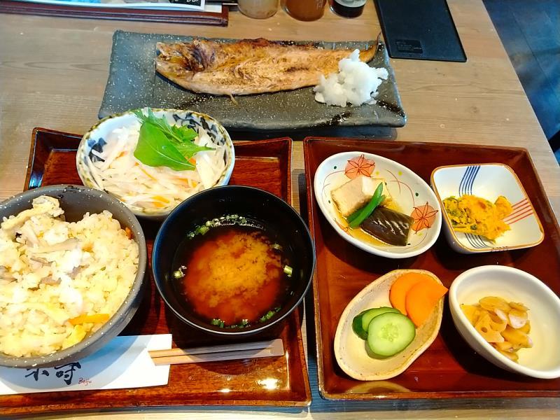 米寿のランチ「本日の一夜干し御膳」
