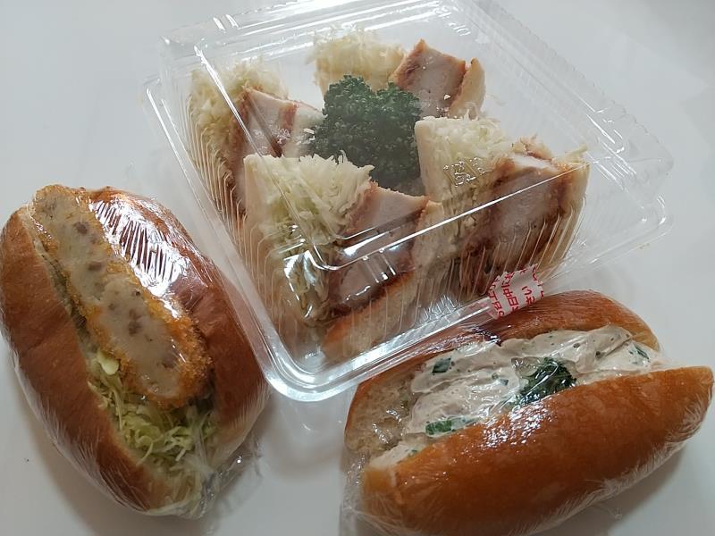 特製かつサンド&ツナサラダ&ミニコロッケ