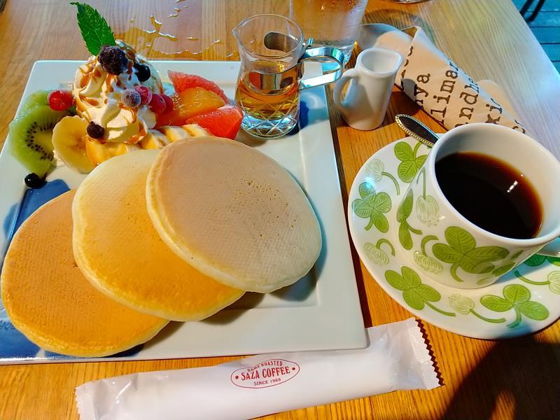サザコーヒー本店のパンケーキ