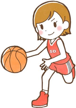 バスケ選手(女子)のイラスト